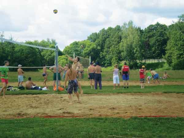 Лето, солнце, пляж, волейбол