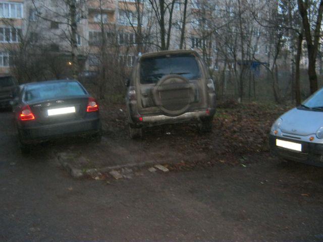 Что важней: газон или парковка?
