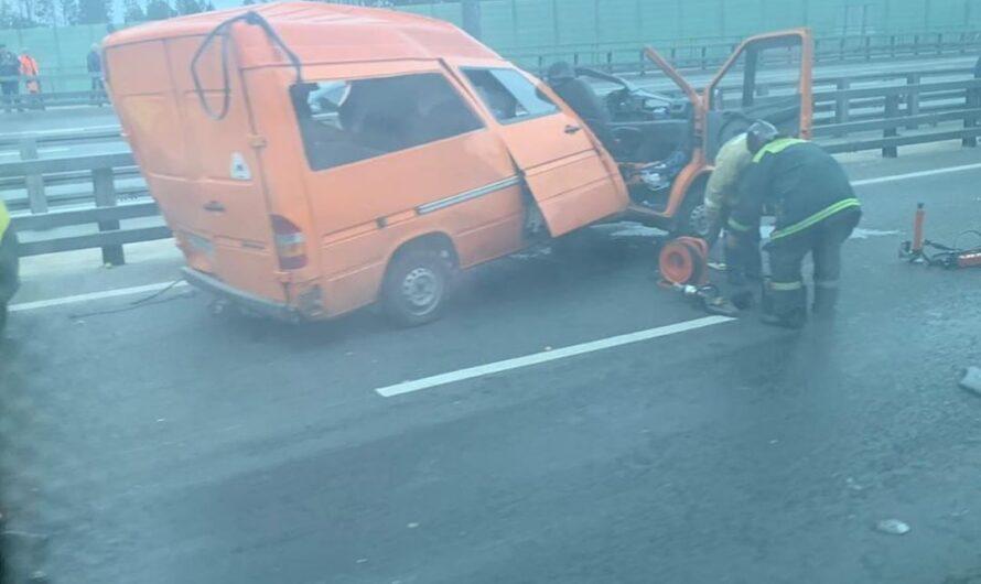 Серьезная авария на Киевском шоссе