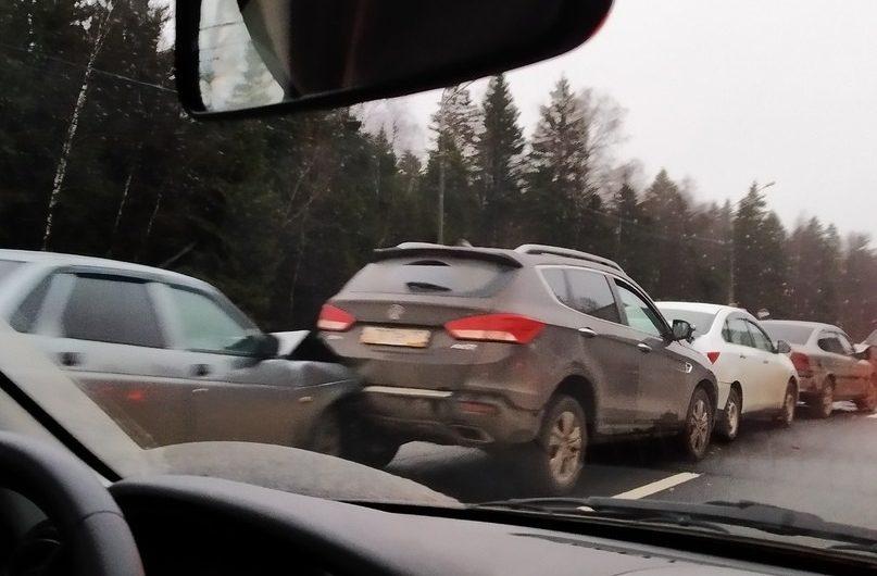 Авария на участке Яковлевское — Селятино